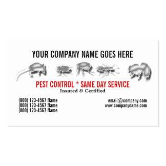 El control de los bichos del parásito personaliza tarjeta personal