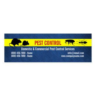El control de los bichos del parásito personaliza tarjeta de visita