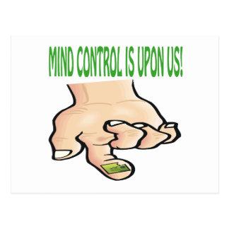 El control mental está sobre nosotros postal