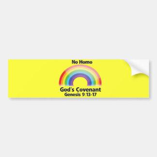 El convenio de ningún dios del homo pegatina para auto
