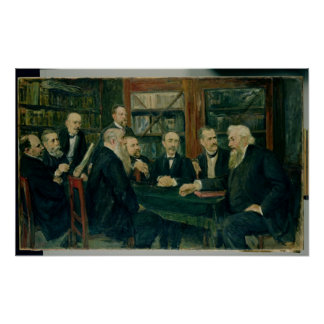El convenio de profesores, 1906 de Hamburgo Póster