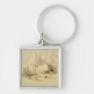 El convento de St. Catherine, monte Sinaí, Februar Llavero Cuadrado Plateado