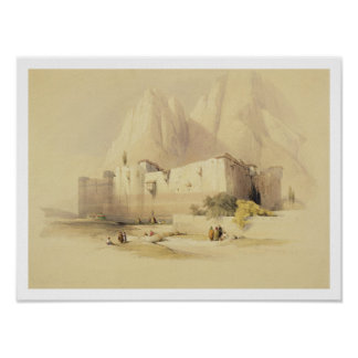 El convento de St. Catherine, monte Sinaí, Februar Poster