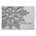El copo de nieve de plata le agradece cardar felicitación