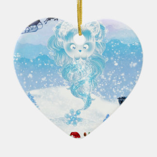 ¡El copo de nieve de Suzy está viniendo a la ciuda Adornos De Navidad