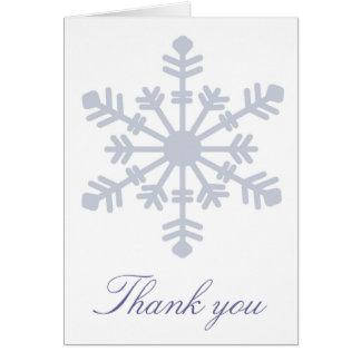 El copo de nieve le agradece cardar tarjeta