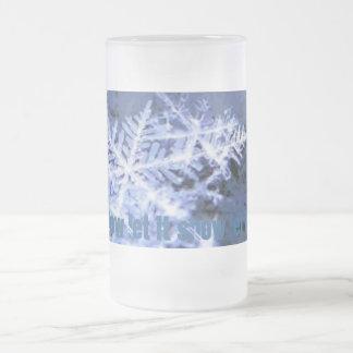 el copo de nieve, lo dejó nevar lo dejó nevar lo taza de cristal