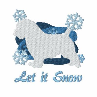 El copo de nieve Norfolk Terrier bordó la camiseta Sudadera Personalizada