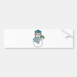 el copo de nieve tiene gusto del muñeco de nieve c pegatina de parachoque