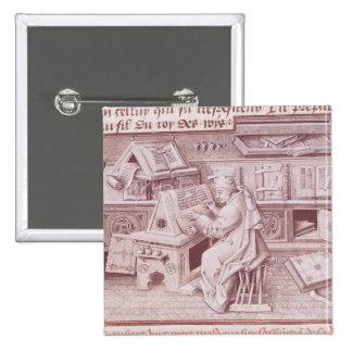 El copyist Jean Mielot Pin Cuadrada 5 Cm