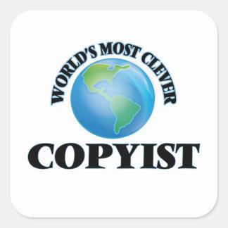 El Copyist más listo del mundo Pegatina Cuadrada