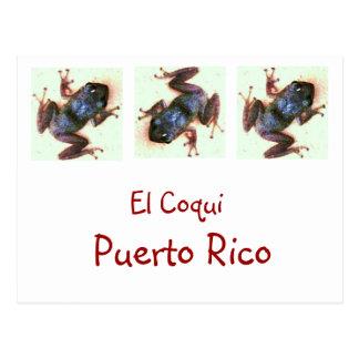 El Coqui Puerto Rico Post Card