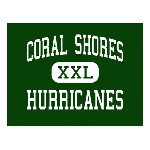 El coral apuntala - los huracanes - el alto - postal