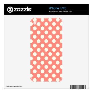 El coral del MB de ZAZ puntea 4000 Calcomanías Para El iPhone 4S