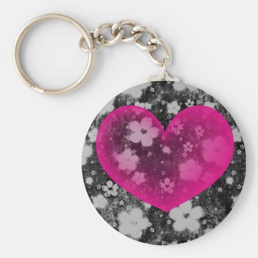 El corazón #1 de la tarjeta del día de San Valentí Llavero