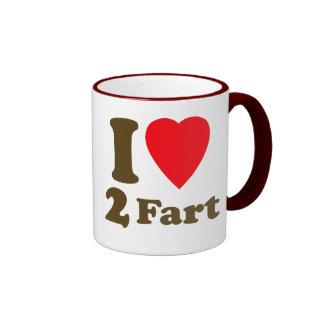 El corazón 2 Fart paso el amor mortal silencioso d Tazas