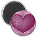 El corazón #3 de la tarjeta del día de San Valentí Imanes Para Frigoríficos