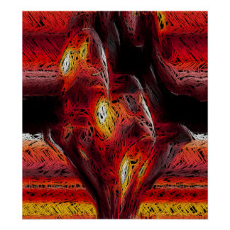 El corazón abstracto impresiones