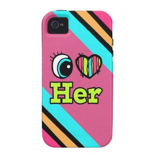 El corazón brillante I del ojo la ama iPhone 4/4S Fundas