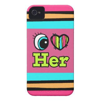 El corazón brillante I del ojo la ama iPhone 4 Case-Mate Carcasa