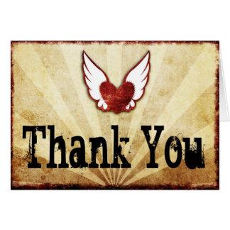 El corazón con alas tatuaje le agradece las tarjet felicitaciones