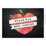El corazón de Apple del aprecio del profesor le Tarjeta De Felicitación