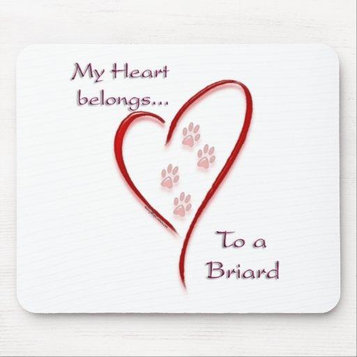 El corazón de Briard pertenece Tapetes De Raton