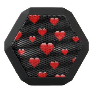 El corazón de cristal rojo tejó personalizable altavoces bluetooth negros boombot REX