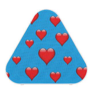 El corazón de cristal rojo tejó personalizable altavoz