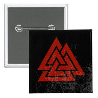 El corazón de Hrungnir (grunge rojo y negro) Pins