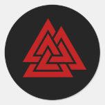 El corazón de Hrungnir (rojo y negro) Pegatina