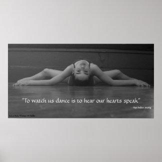 El corazón de la danza habla póster