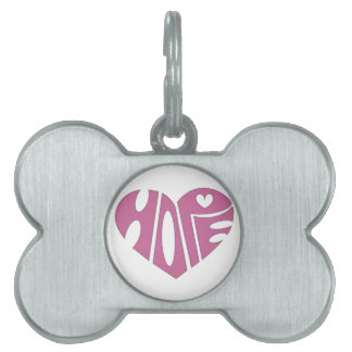 El corazón de la esperanza placas de mascota