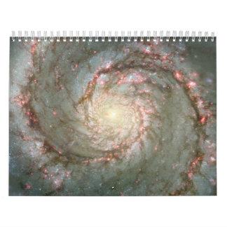 El corazón de la galaxia de Whirlpool Calendarios De Pared