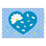 El corazón de la margarita azul le agradece las felicitaciones