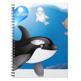El corazón de la orca (orca) I diseña Cuaderno