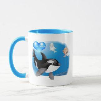 El corazón de la orca (orca) I diseña Taza