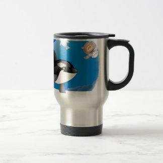 El corazón de la orca (orca) I diseña Taza De Viaje