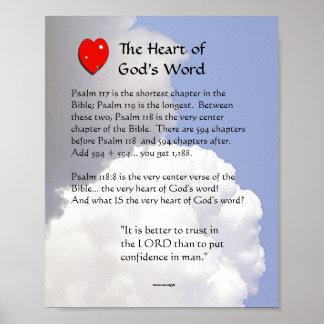 El corazón de la palabra de dios póster