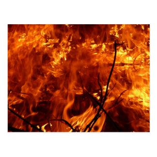 El corazón de la postal del fuego