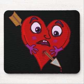 El corazón de la tarjeta del día de San Valentín Alfombrilla De Raton