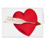 El corazón de la tarjeta del día de San Valentín p