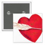 El corazón de la tarjeta del día de San Valentín p Pin