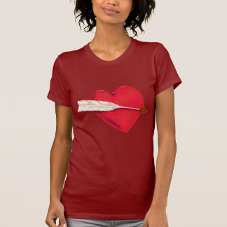 El corazón de la tarjeta del día de San Valentín p Camisetas