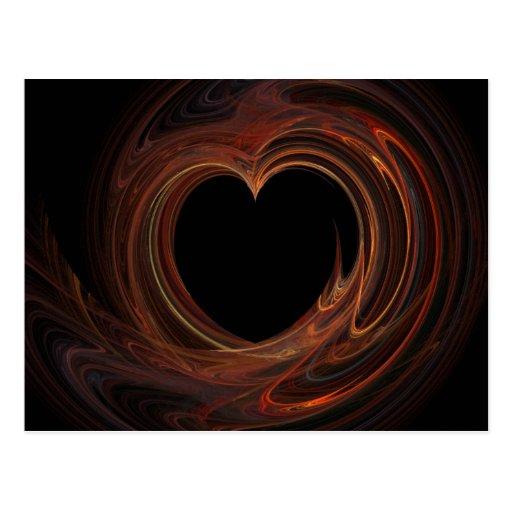 El corazón de la tarjeta del día de San Valentín Postales