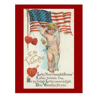 El corazón de los amores Spangled a la tarjeta del Postales
