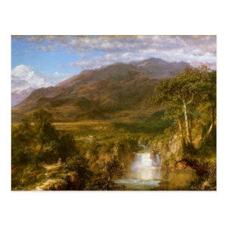 El corazón de los Andes por la iglesia de Federico Tarjeta Postal