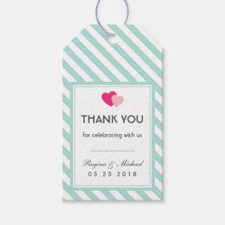 El corazón de los azules cielos raya la etiqueta etiquetas para regalos