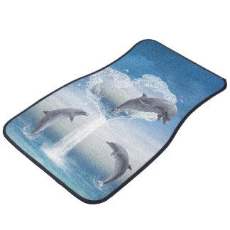 El corazón de los delfínes alfombrilla de auto