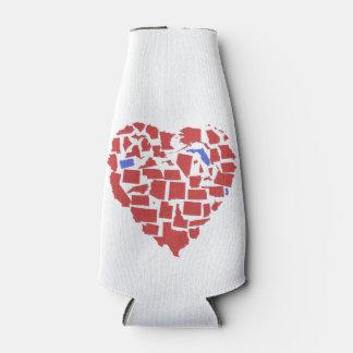 El corazón de los E.E.U.U. indica PA FL de NJ en Enfriador De Botellas